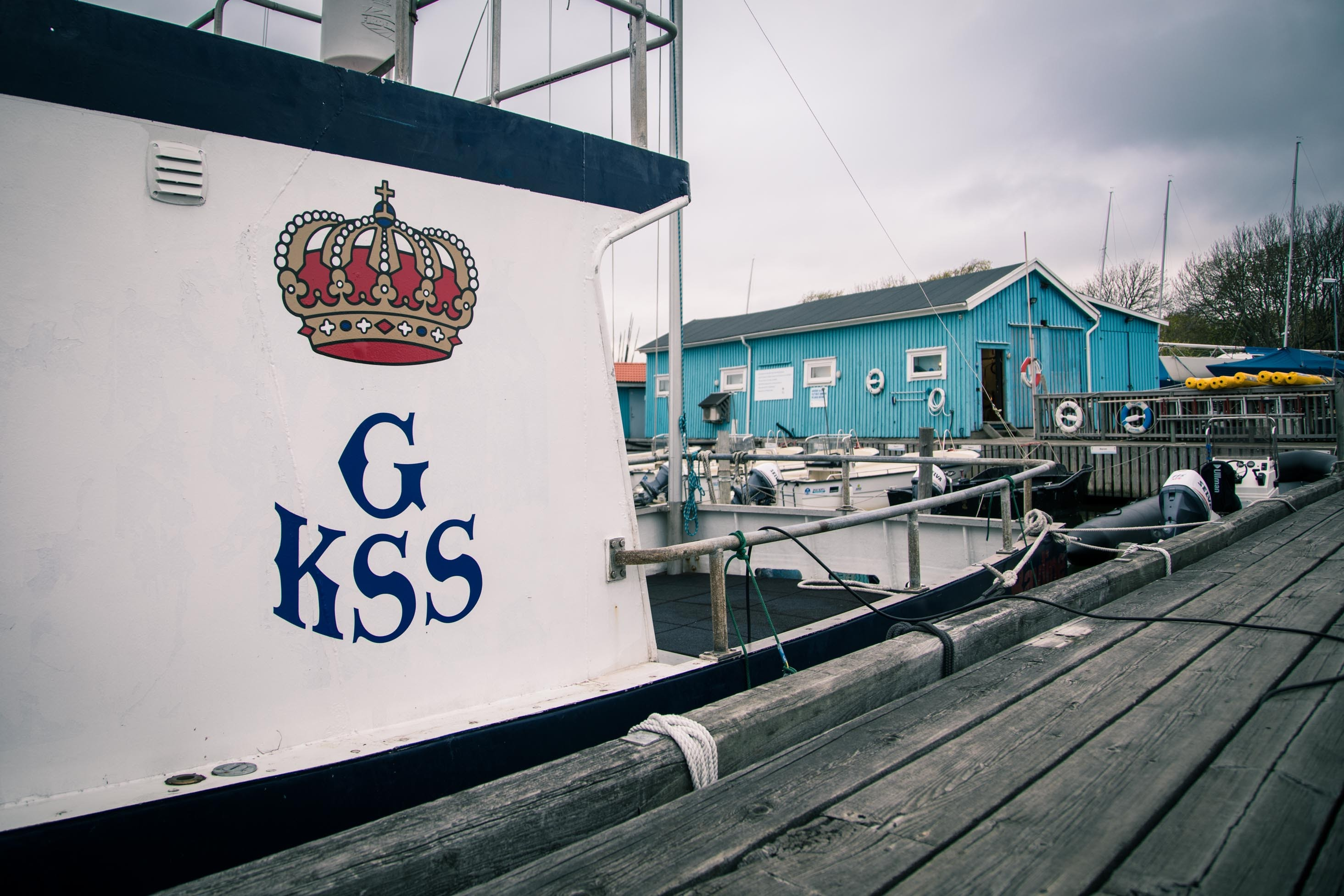 GKSS Logo on boat